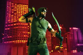 IU Alum dressed as the Green Arrow