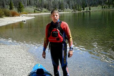 Bryan Brown navigates the Colorado River