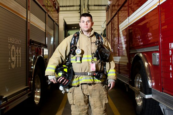 Josh Scalf, Student, IU Southeast, 10-Year Veteran Firefighter