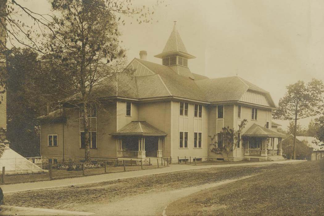 "The ""original"" Assembly Hall in 1910"