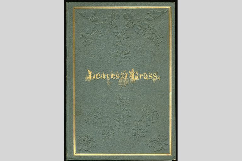 "First edition of Walt Whitman's ""Leaves Of Grass"""