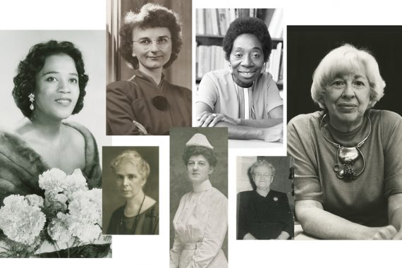 A collage of photos featuring the 7 women highlighted in this post