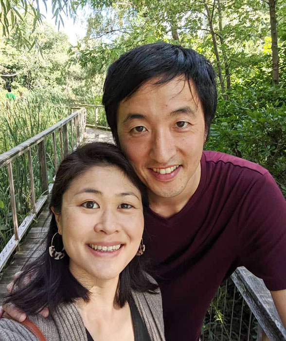 Paul Park with his wife