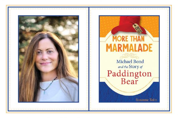 Headshot of Rosanne Tolin beside More Than Marmalade book cover